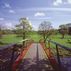 River Irthing Footbridge, Willowford, nr Gilsland, Cumbria